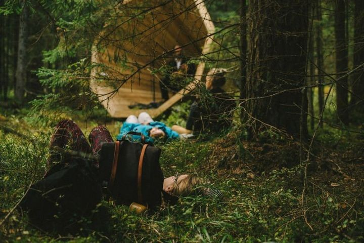 Деревянные приспособления для прослушивания звуков леса…
