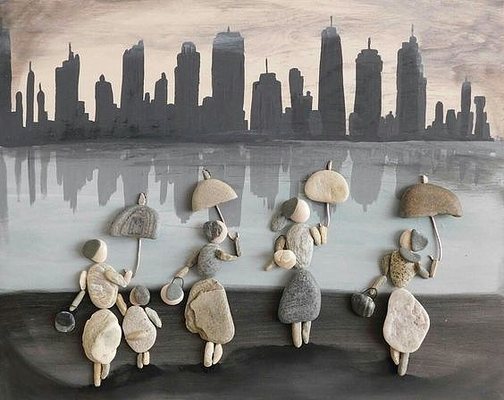 Композиции из камней. Удивительно! Человеческой фантазии нет предела!)))