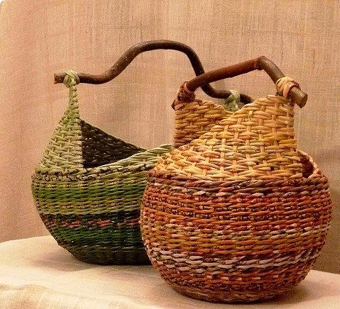 Плетение корзинки с ушками