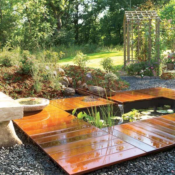 Декор пруд в саду своими руками оригинальные идеи 151