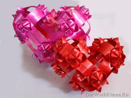 Оригинальная объемная сердце из модуля цветок лотоса.