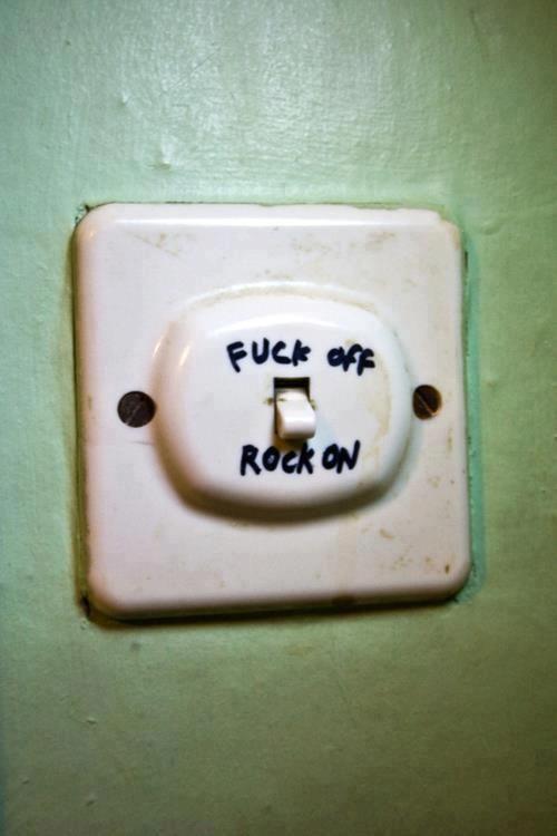 Выключатель в стиле рок