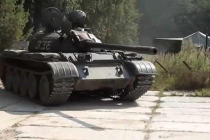 Русский танк в Литве