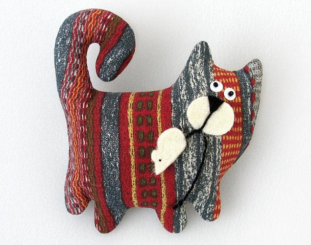 Кошки из ткани своими руками фото