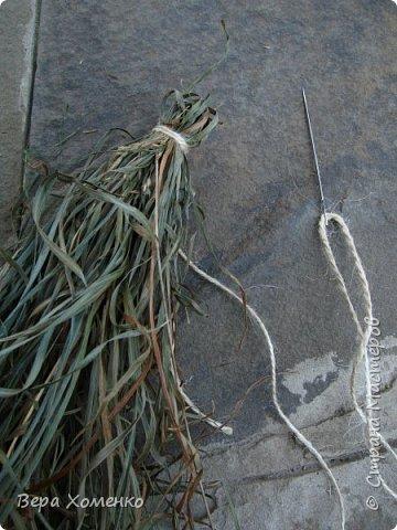 Тарелка ,подставка из травы.Плетение из трав.