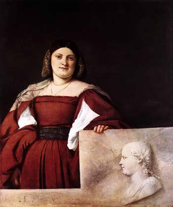 Тициан. Портрет дамы (Ла Скьявона)