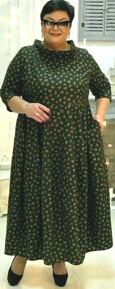 Платье бохо в мелкий цветок