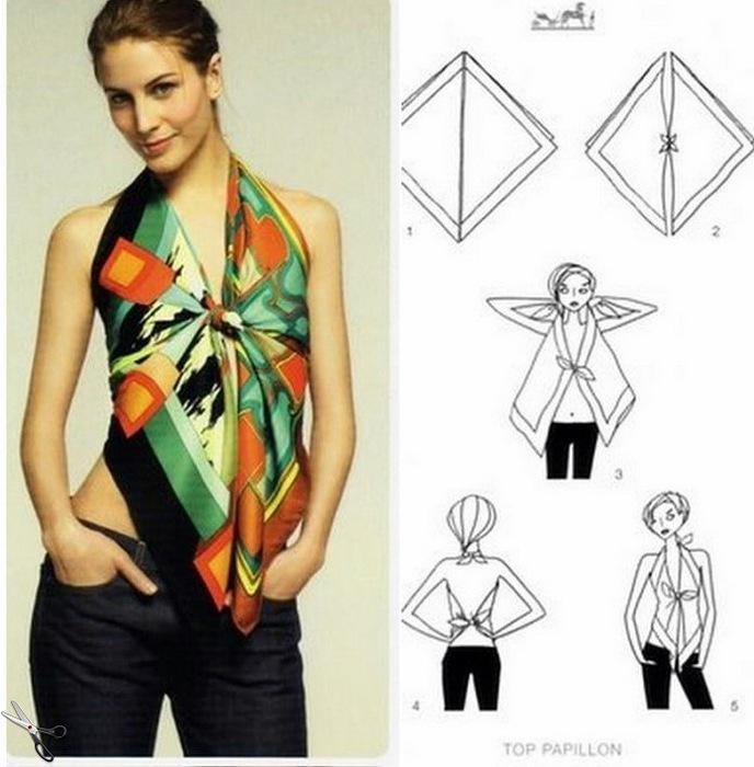 Блузка из платков своими руками фото