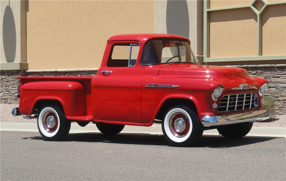 1956 год, Chevrolet 3100 из грузопассажирской линейки Chevrolet Task Force. Эта линейка сменила Advance Design и приобрела не меньшую популярность. chevrolet, автодизайн, красота
