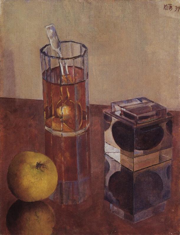 """Петров-Водкин.""""Натюрморт с чернильницей"""". 1934"""