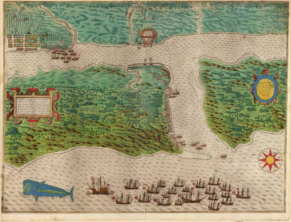 Высадка англичан у Картахены, карта - Лучший пират Её Величества | Военно-исторический портал Warspot.ru