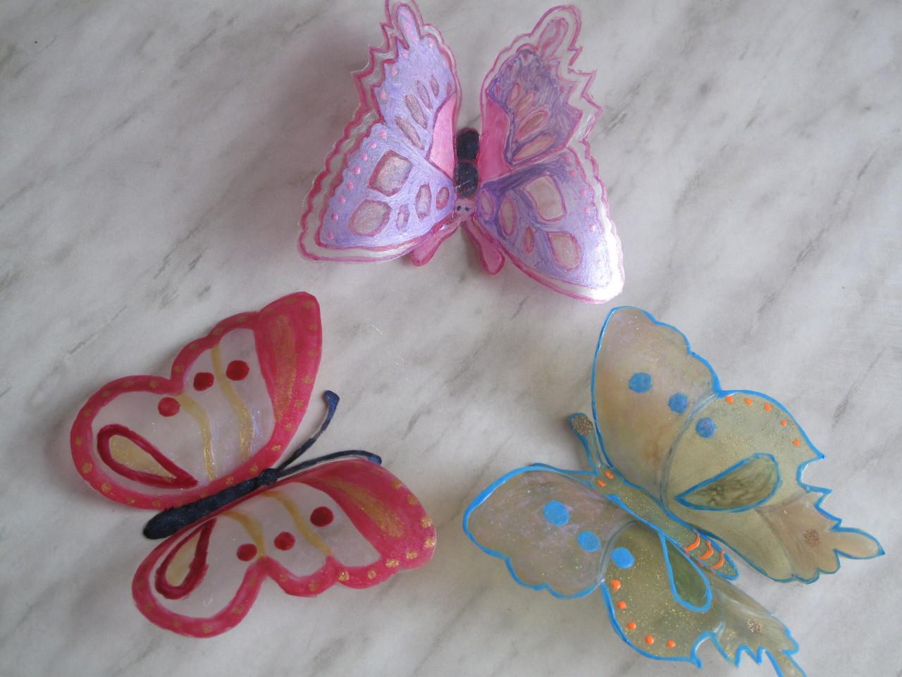 Бабочки из пластиковых бутылок мастер класс