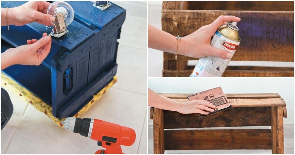 Неожиданно: обыкновенный ящик можно превратить в полезный элемент интерьера