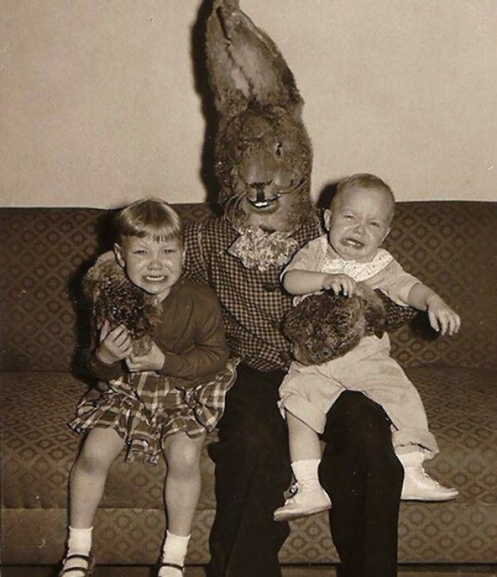 15+ Vintage Easter Bunny Pics That Will Give You Nightmares