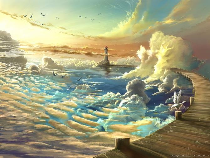 Фантастическая живопись цифрового художника Александра Роммеля