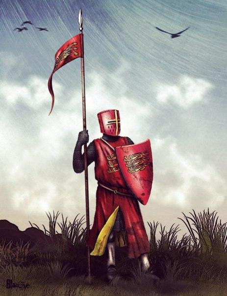 Подготовка английского рыцаря