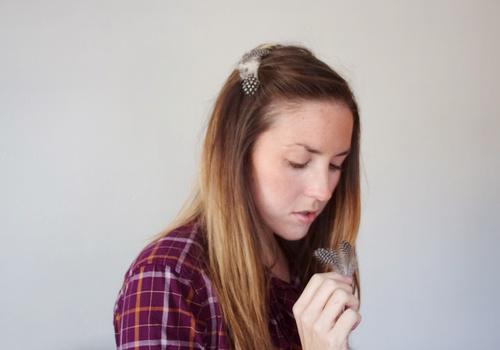 Заколочка с перьями (Diy)