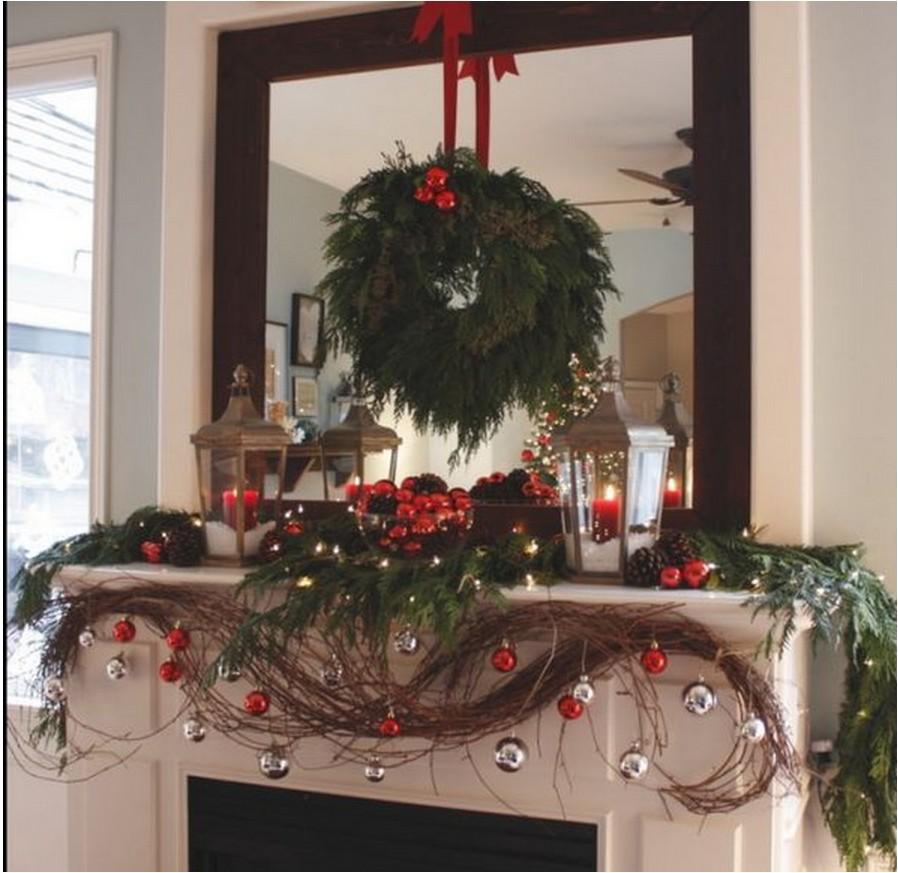 Украшение дома на новый год в стиле прованс