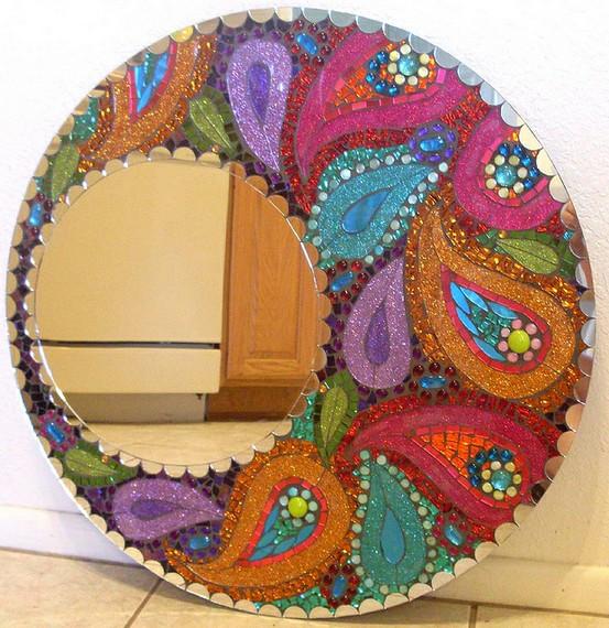 Зеркало мозаика своими руками