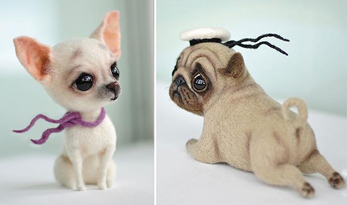 Две русских мастерицы создают таких милых войлочных собачек, что они покорят сердце даже заядлого «кошатника»