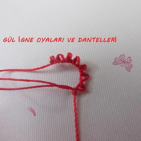 Игольное турецкое кружево часть 3-лепестки и листья