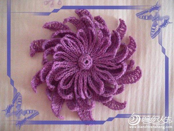Цветок крючком схема и описание