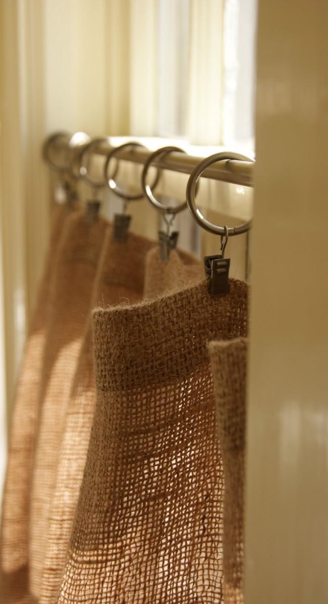 Cafe curtain rod