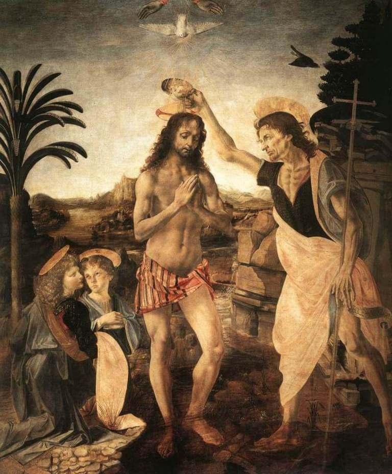 Крещение - Леонардо да Винчи (1475)