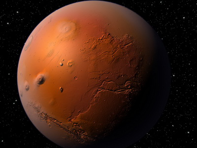 В древности на Марсе случился ядерный взрыв. Естественный.