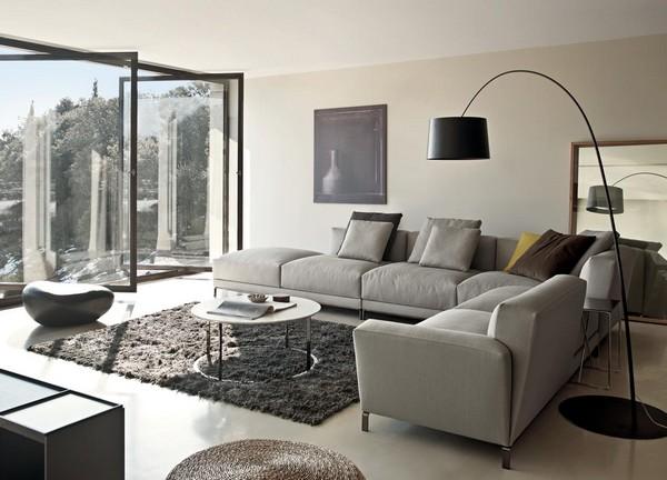 угловые модульные диваны для гостиной