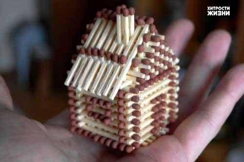Фото-урок по изготовлению спичечного домика .