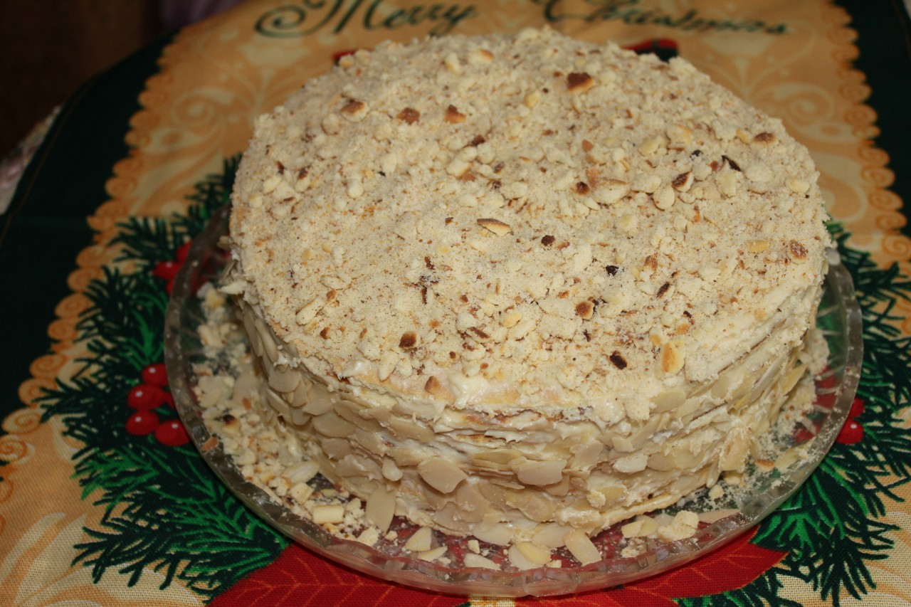 """""""Наполеон"""" за пол часа (торт на сковородке)"""