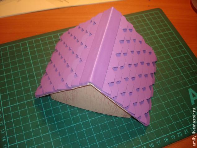 Как сделать бумажную крышу на домик