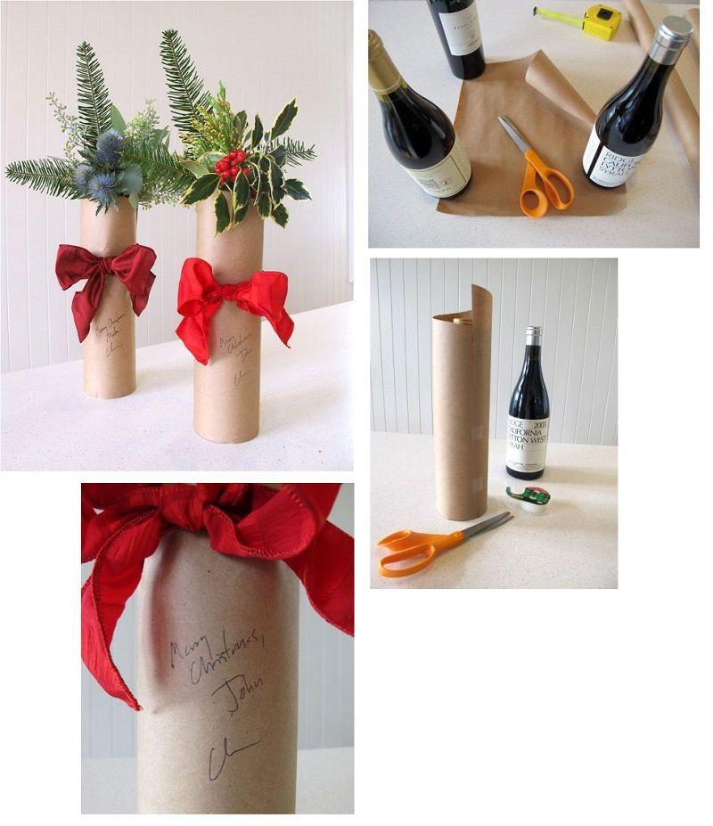 букет - упаковка бутылки