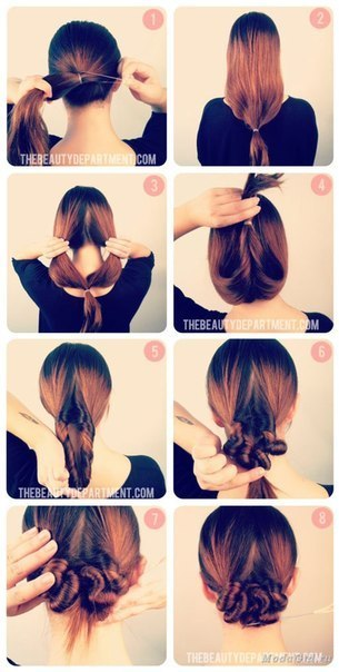 Как сделать причёску самой себе в школу для средних волос