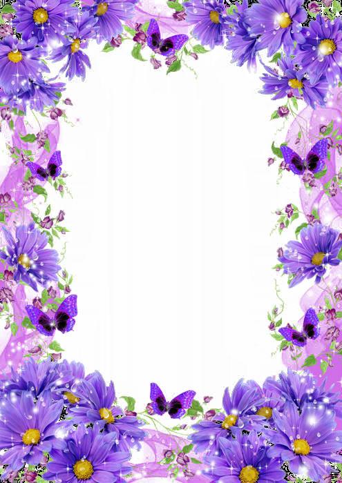 Рамка с цветами для
