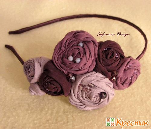 Как сделать цветы для ободка своими руками из ткани - Nevapteki.ru