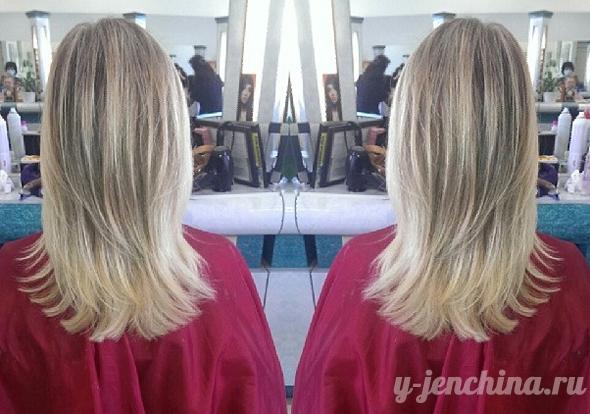 причёски на средние волосы каскад фото