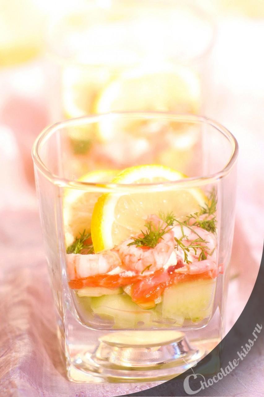 Огуречный веррин с лососем