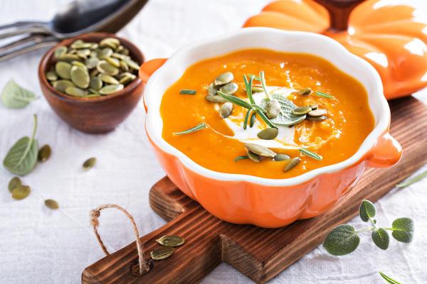 Тыквенный суп со сливками