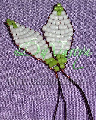 Плетение бисером подснежники схемы 31