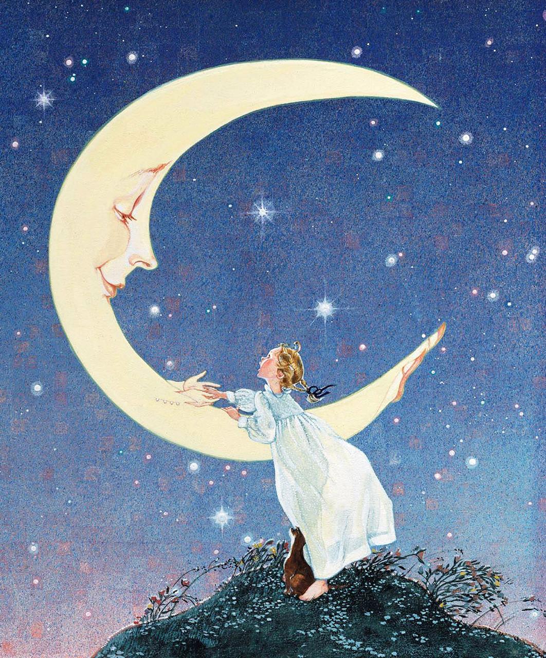 Сочини сказку почему у луны нет платья