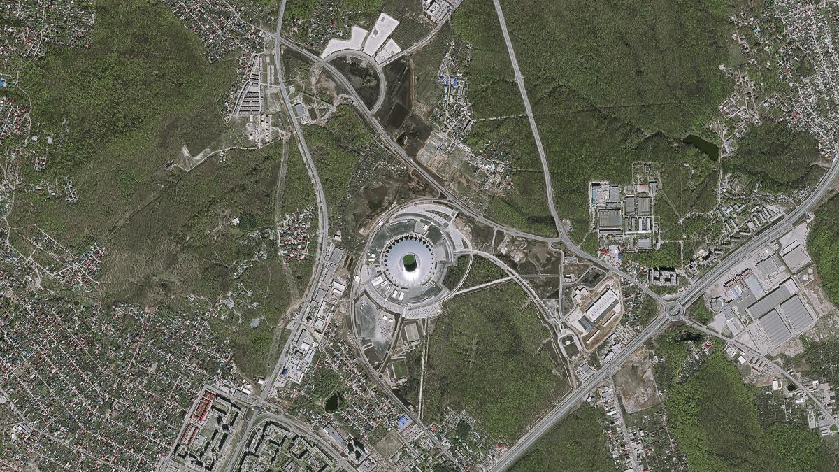 Стадионы Чемпионата мира с высоты