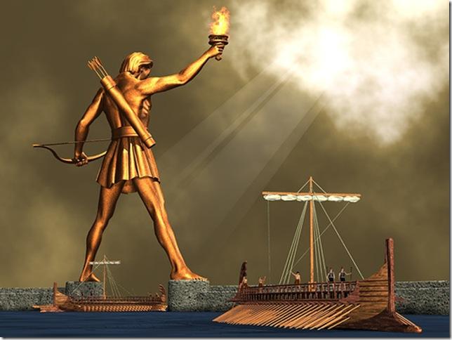 Колосс Родосский. Гигантская статуя бога Солнца