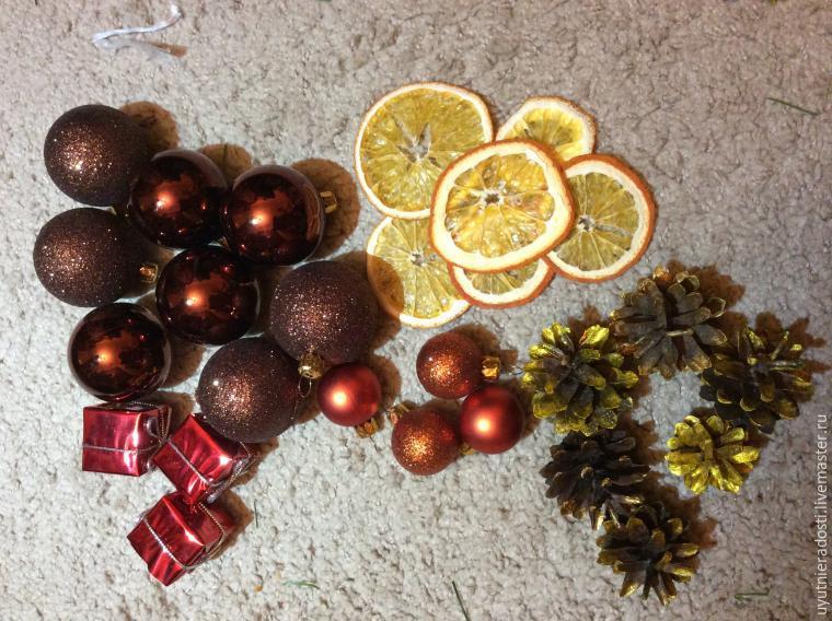 Делаем рождественский венок «Новогоднее настроение»