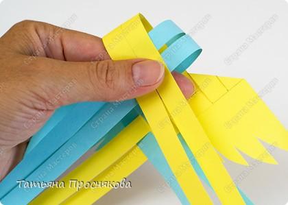 Мастер-класс Поделка изделие Плетение Плетёные птички Бумага фото 11