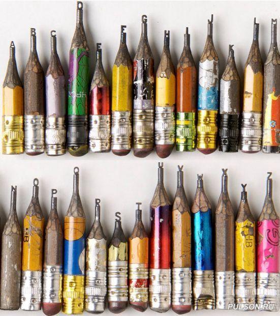 Левша 21 века… Простой карандаш, вырезки из стержня, карандаши, ювелир