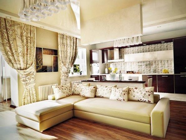 Фотош штор для кухни гостиной