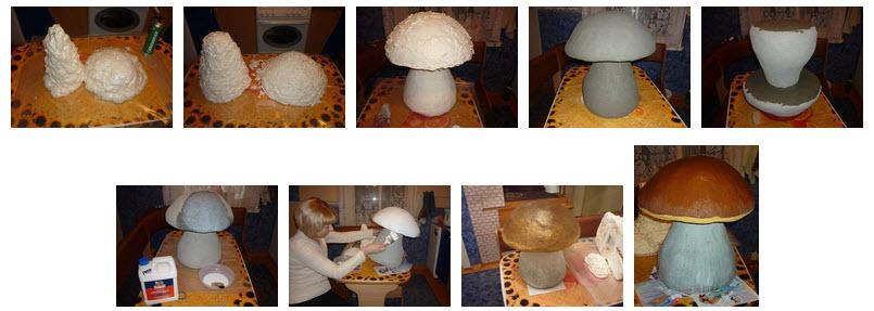 Сделать грибочки своими руками 5