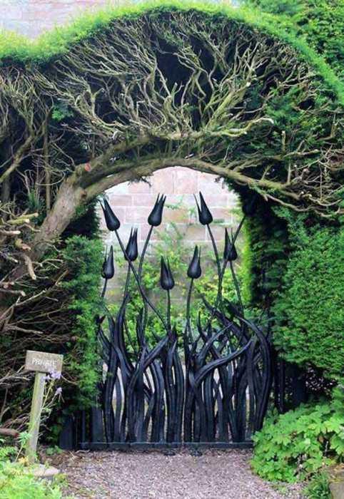 Идеи оригинальных садовых калиток калитка, садовая
